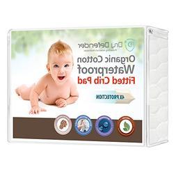 Organic Cotton Waterproof Fitted Crib Pad - Natural Baby Cri
