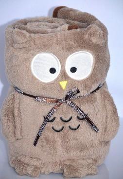 Owl Baby Girls Boys Plush Blanket Throw Security Animal Pill