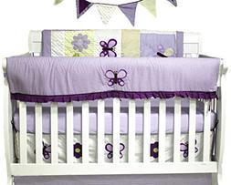 Pam Grace Creations 10 Piece Crib Bedding Set, Lavender Butt