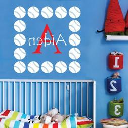 Personalized Monogram Kids Wall Decals - Boys Wall Decal- Na