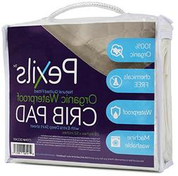 Pexils Premium Natural Organic Waterproof Quilted Crib Mattr