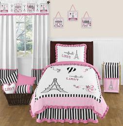 Pink, Black and White Stripe Paris 4 Piece Childrens and Kid