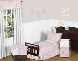 Pink, Gray and White Shabby Chic Alexa Damask Butterfly Girl