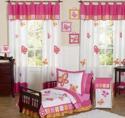 Pink and Orange Butterfly Collection Toddler Girl Bedding 5