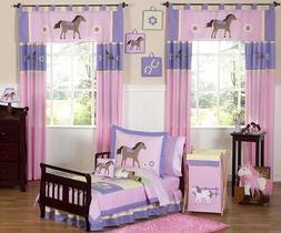 Sweet Jojo Designs 5-Piece Pretty Pony Horse Toddler Bedding