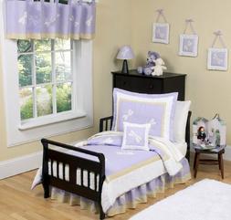 Purple Dragonfly Dreams Toddler Bedding 5 Piece Girls Set