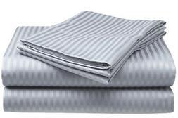 Queen Size Silver/Gray 400 Thread Count 100%Cotton Sateen Do