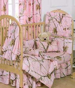 Realtree AP Pink Camo 6 Piece Crib Set