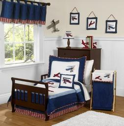 Sweet Jojo Designs 5-Piece Red, White and Blue Vintage Aviat