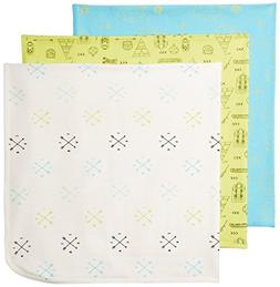 Rosie Pope Baby Blankets 3 Pack,Bachelor Button,One Size