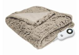 Serta  Faux Fur Electric Heated Throw  BLANKET HEAT WARM NEW