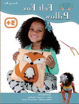 Sew and Stuff Kit. Felt Fox Pillow Ideal Kids Craft Kit Incl