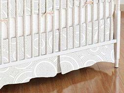 SheetWorld - MINI Crib Skirt  - Grey Multi Circles - Made In
