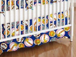 SheetWorld - MINI Crib Skirt  - Safari Animal Circles - Made