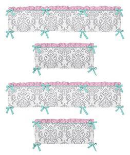 Skylar Collection Crib Bumper by Sweet Jojo Designs