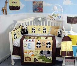 SoHo 1234 Jungle Friends Baby Crib Nursery Bedding Set 13 pc