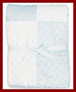Spasilk Baby-Boys Newborn Minky Raised Dot Blanket Satin Tri