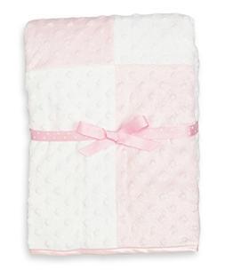 Spasilk Baby-Girls Newborn Minky Raised Dot Blanket with Sat