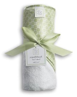 SwaddleDesigns Hooded Towel - Mini Mod Circles - Kiwi