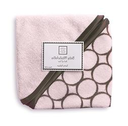 SwaddleDesigns Terry Velour Baby Washcloths, Brown Mod Circl