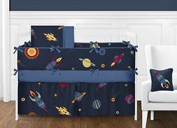 Sweet Jojo Designs 9-Piece Space Galaxy Rocket Ship, Planet,