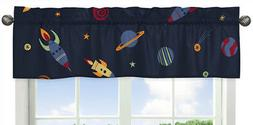 Sweet Jojo Designs Galactic Planets Rocket Ship Window Trea
