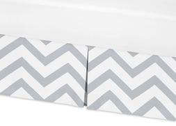 Sweet Jojo Designs Grey and White Zig Zag Crib Bed Skirt Dus