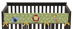 Sweet Jojo Designs Jungle Time Animals Long Front Rail Guard
