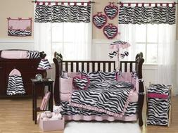 Sweet Jojo Designs Pink, Black and White Funky Zebra Animal