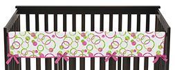 Sweet Jojo Designs Pink and Green Polka Dot Mod Circles Long