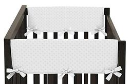 Sweet Jojo Designs Solid White Minky Dot Teething Protector