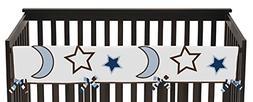 Sweet Jojo Designs Stars and Moons Long Front Rail Guard Bab