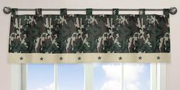 Sweet Jojo Designs Window Valance - Green Camo Army Military