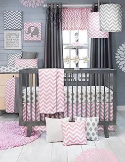 Sweet Potato Swizzle Quilt, Dot Sheet and Crib Skirt, Grey/P