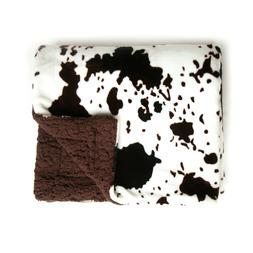 Tadpoles Plush Sherpa Cowhide Print Double Layer Baby Blanke