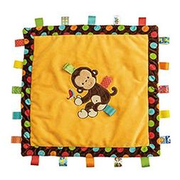 Taggies Monkey Blanket: Taggies Ribboned Border, Soft Satin
