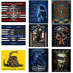 Throw Blanket Patriotic Gifts USA Flag Soldier Firefighter P