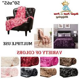 Throw Blanket Sherpa Super Luxury Soft Faux Fuzzy Fur Blanke