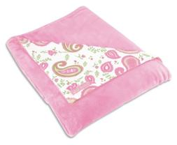 Trend Lab Receiving Blanket in Paisley Park Print Front/Pink