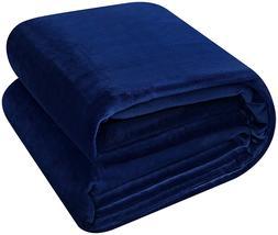 Utopia Bedding Flannel Fleece Blanket Lightweight Cozy Couch