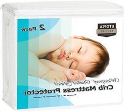 Utopia Bedding Waterproof Crib Mattress Protector - Breathab
