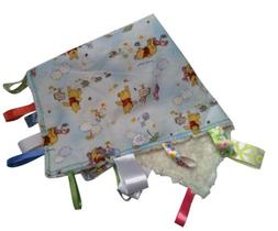 WINNIE THE POOH~ Reversible Blanket with Ribbon Tabs