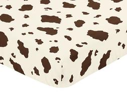 Sweet Jojo Designs Western Cowgirl Fitted Crib Sheet for Bab
