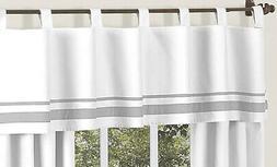White and Gray HotelModern Window Valance by Sweet Jojo De