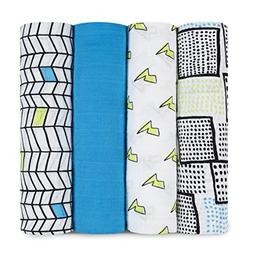 aden + anais Classic Swaddle 4 Count, Whiz Kid, 1 Pack
