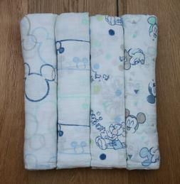 Aden Anais Baby Boy Disney Swaddle Blanket ~Mickey Bubble ~M