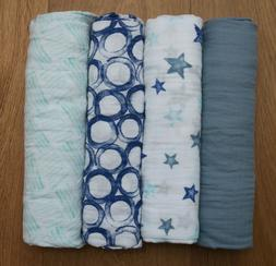 Aden Anais Baby Boy Swaddle Blanket ~ Fresh Air ~ Blue, Aqua