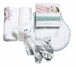 Aden And Anais New Beginnings Baby Swaddle Lovey Bib Gift Se