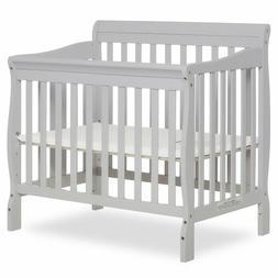 Dream On Me Aden Convertible 4-in-1 Mini Crib Grey NOB