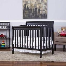 Aden Mini Convertible Crib - Finish: Black